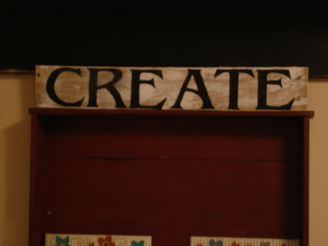 Create - pallet sign