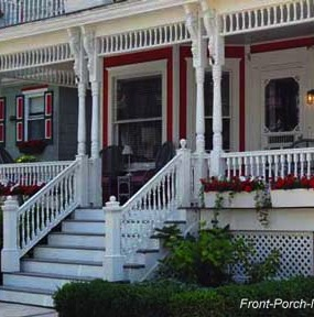 Running trim is normally installed between your porch columns. It comes in various styles and is really easy to install.