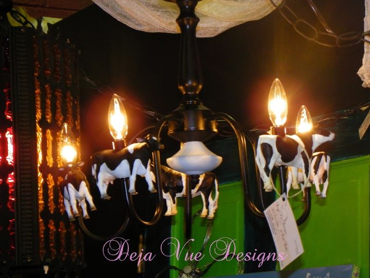 chandelier with added touches for the dairy lover, home decor, lighting