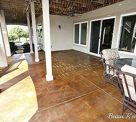 Staining A Concrete Patio, Concrete Masonry, Flooring, Patio