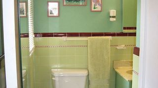 q my small master bath needs some help, bathroom ideas, painting, Another view of green walls vanity