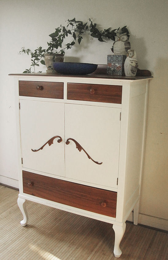 the dreaded purple dresser makeover more or less wood, painted furniture, woodworking projects