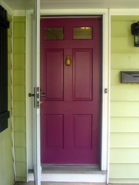 Our new pineapple door knocker