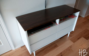 Revamping a Mid Century Modern Chest of Drawers into a Media Center