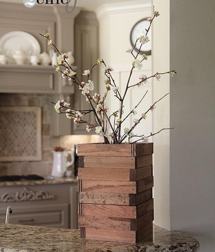 Vase from wood scraps