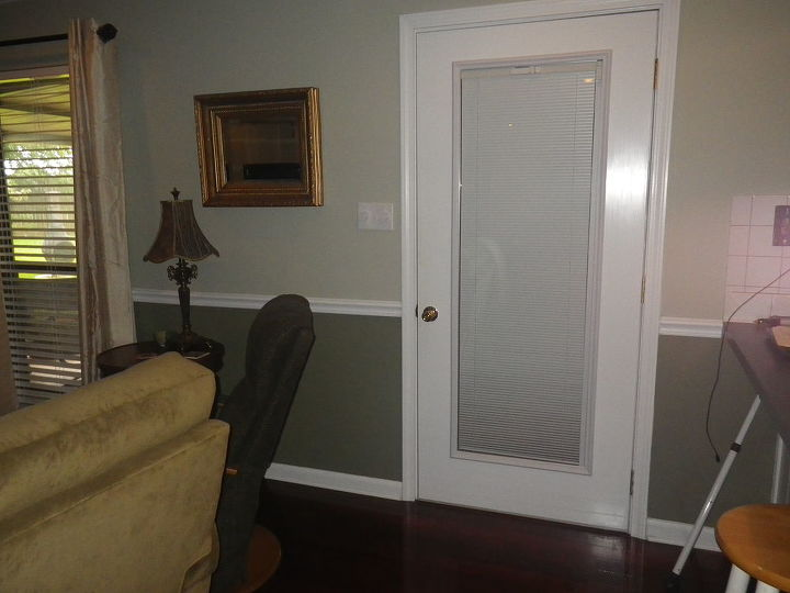 Having the blinds built in the doors is a nice touch.