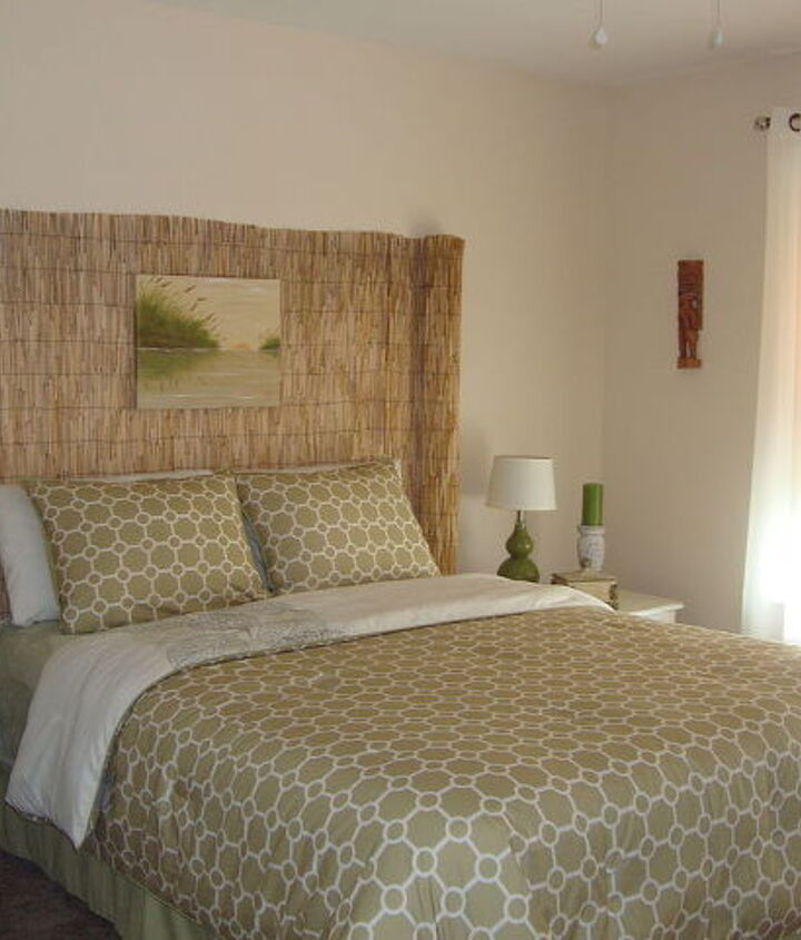 """""""Beachy"""" headboard... Total cost.. $20.00 and about 30 minutes time."""