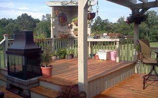 multi tier deck with pergola, decks