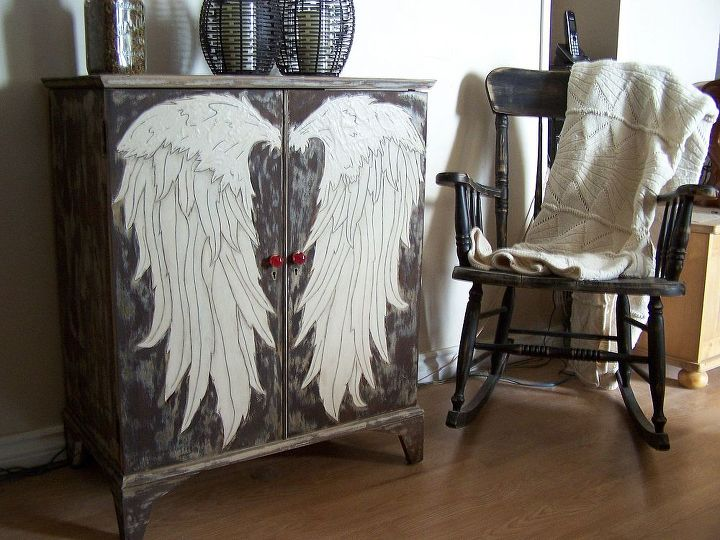 secrets revealed the angel wing cubby creation by gypsy barn, organizing, painted furniture, The final product You can find more either on our Facebook fan page at or see the secret ingredient in it s blog at
