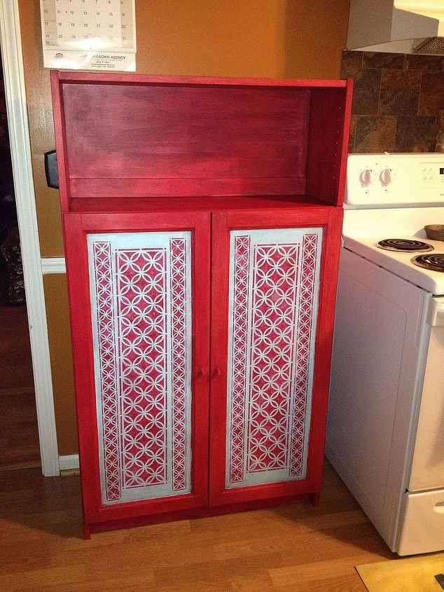 I used Webster's Chalk Paint powder mixed with red paint I already had.