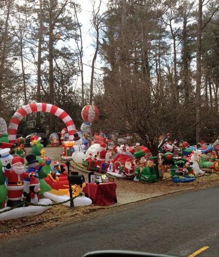 overkill or the true meaning of getting into the christmas spirit, christmas decorations, seasonal holiday decor