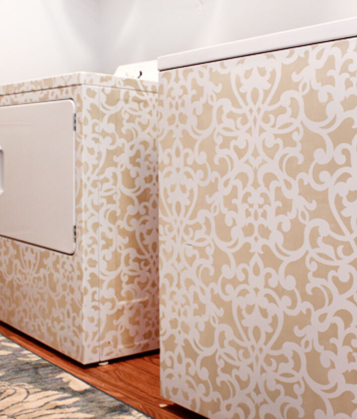 Stenciled washer and dryer