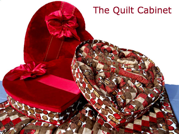 no calorie candy with all the comfort, crafts, seasonal holiday decor, Large 57X72 23 Heart Box shown in Vanilla