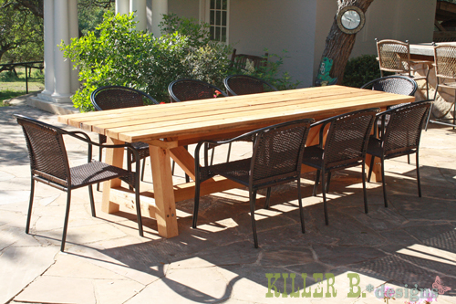 Cedar Provence Table Knockoff For 230 Diy Outdoor Furniture Painted Woodworking