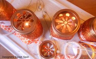 mason jar candles, crafts, mason jars, repurposing upcycling, seasonal holiday decor, More information on the blog