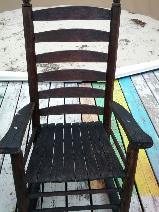 q vintage rocker, painted furniture