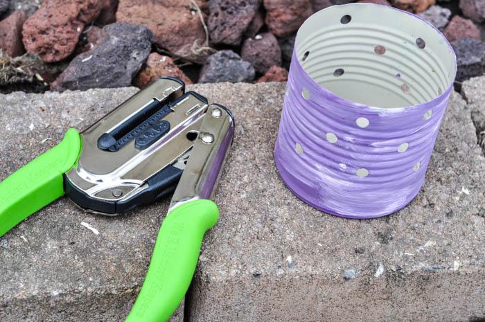 upcycled tin can luminaries, crafts, decoupage, repurposing upcycling