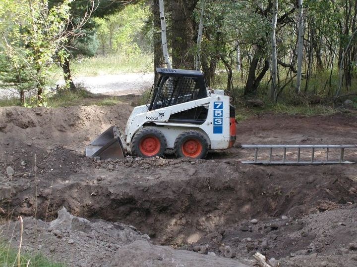 The new septic system required a 48 feet long, 12 feet deep and 8 feet wide leach field to be according to code.