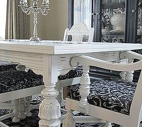Diy 1920 S Vintage Table Chairs Redo, Home Decor, Living Room Ideas, Painted