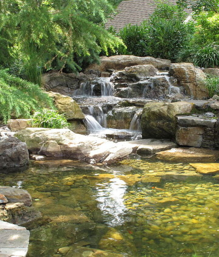 Big Boulders are the key to help naturalize man made waterfalls, this is one of my favorites.  Learn more about our waterfall construction, click on this link https://www.facebook.com/notes/bjl-aquascapes/pond-contractor-certified-aqua