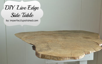 DIY Live Edge Wood Side Table