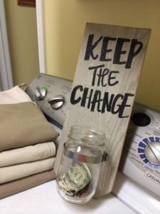 decorative diy sign, crafts, Keep The Change DIY Wooden Sign