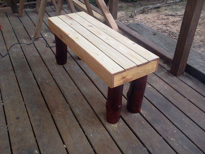 foot bench for garden or the end of your bed, diy, painted furniture, woodworking projects