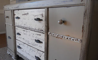 chippy french vintage buffet, painted furniture, Je t aime