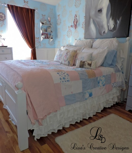 a shabby chic inspired patchwork coverlet, bedroom ideas, crafts, home decor, shabby chic