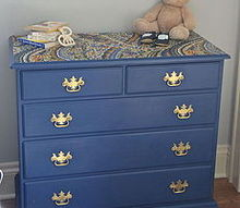 fabric topped dresser, chalk paint, painted furniture, reupholster