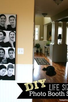 diy life size photo booth wall art, home decor, DIY Life Size Photo Booth Wall Art
