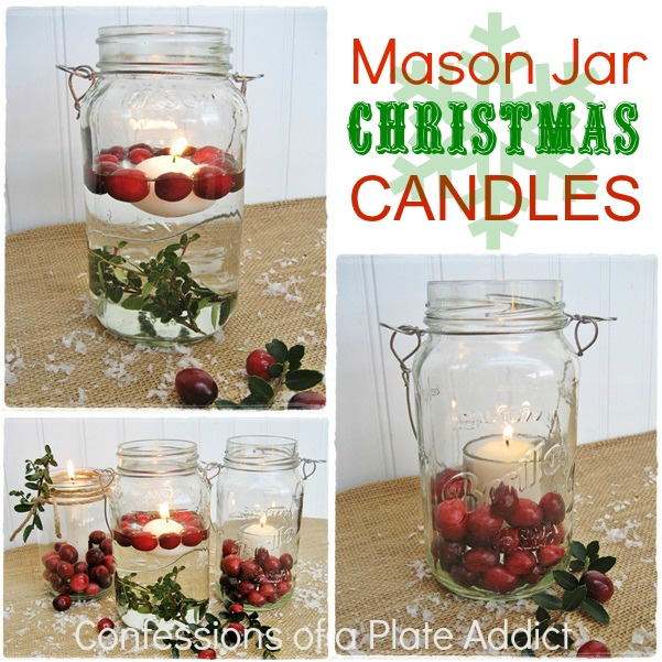 Mason Jar Christmas Decorations