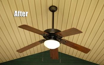 Thrifty, DIY Outdoor Fan Makeover