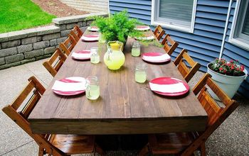 diy outdoor patio table, diy, how to, outdoor furniture, painted furniture