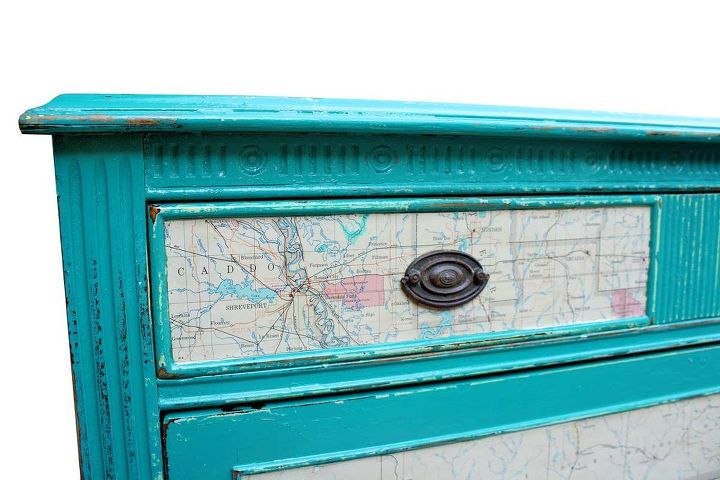 Famous Chest of Drawers with 1965 Map as Accents | Hometalk BJ37