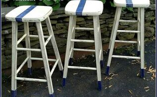 my latest creations from boring stools to stools with a punch, painted furniture