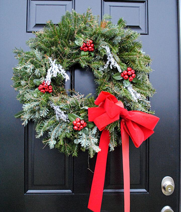 My front door with Wreath.