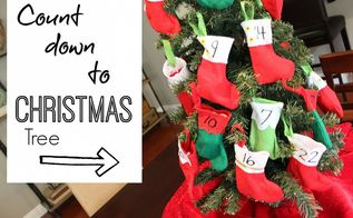 count down to christmas tree advent calendar christmas, crafts, seasonal holiday decor