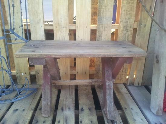 Cedar bench that belonged to my Grandparents.