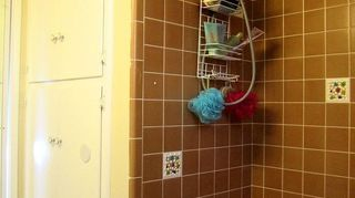 q bathroom deep cleaning time professional cleaners vs homeowners, bathroom ideas, cleaning tips, Shower angled view