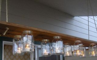 diy mason jar chandelier, diy, mason jars, outdoor living