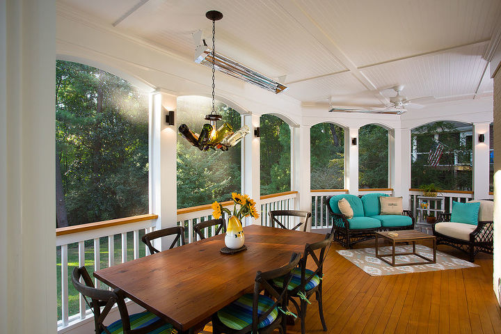 inviting deck with screened porch, decks, home decor, outdoor living, porches