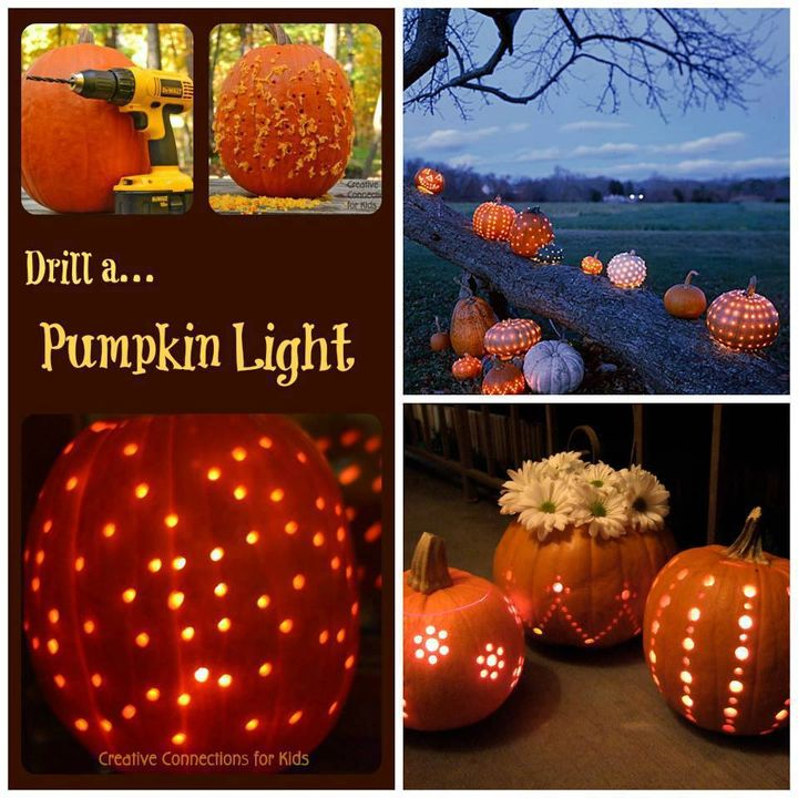 pumpkin idea, crafts, lighting, seasonal holiday decor