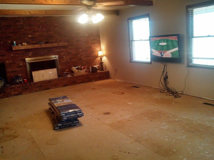 before and after family room, dining room ideas, flooring, home decor, home improvement, wall decor
