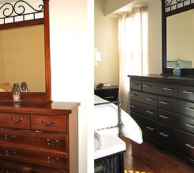 From Traditional To Modern Master Bedroom Furniture Makeover, Bedroom  Ideas, Painted Furniture, Before