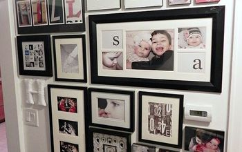Easy Trick for Hanging a Large, Photo Gallery Wall
