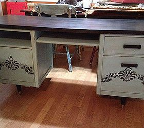 Painted Office Furniture. Craigslist Office Desk Makeover, Chalk Paint,  Craft Rooms, Home