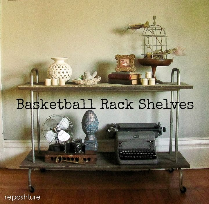 basketball rack shelves, repurposing upcycling, shelving ideas, woodworking projects