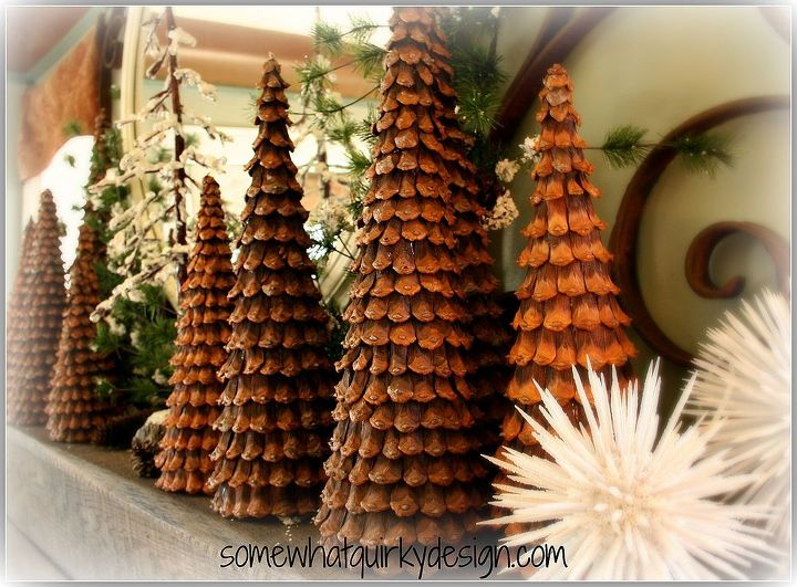 oh how i love these christmas trees i ve made over the years with pine cones