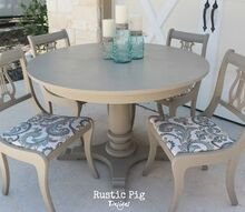 sweet little table chairs, painted furniture, rustic furniture, The finished table and chairs Painted in Annie Sloan s Coco and waxed with a clear wax